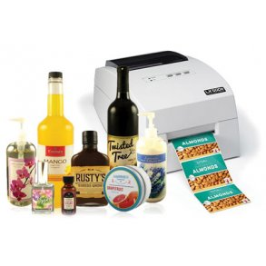 Produktetiketter for fullfarge etikettprintere