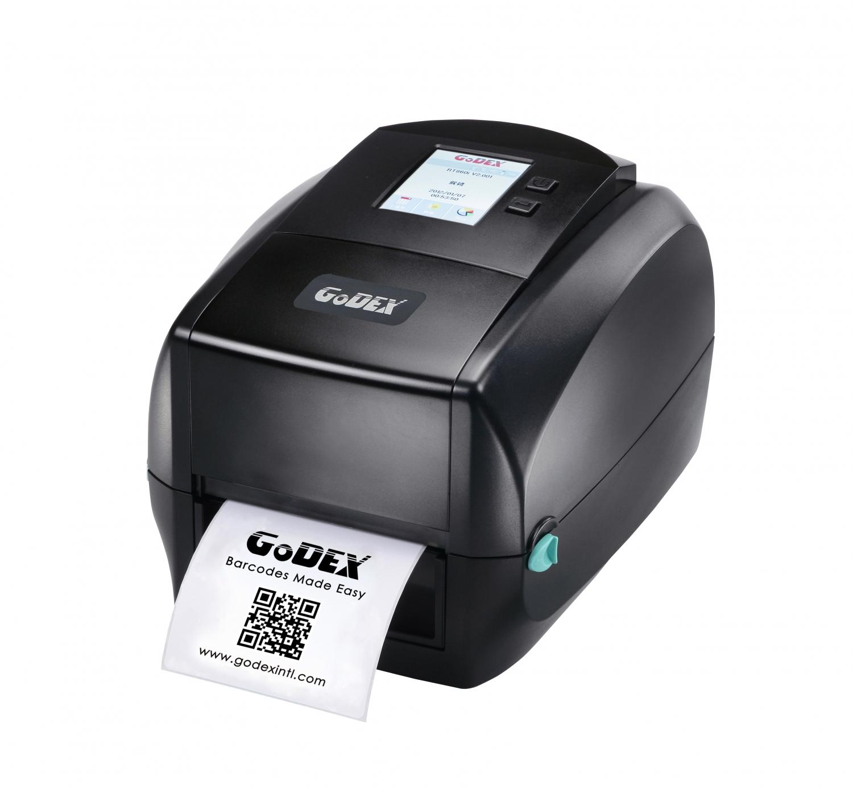 203 dpi Ethernet Godex DT2x 2 Direct Thermal Printer 7 IPS USB RS232